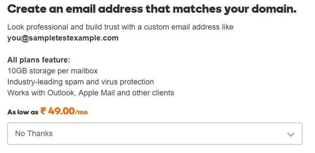 Email Id Screenshot